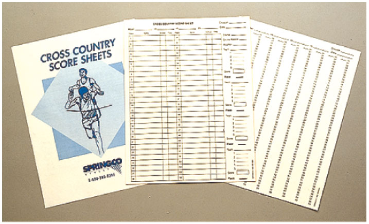 Cross Country Scoresheets