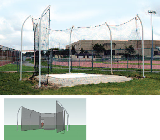 Gill H.S. Steel Discus Cage