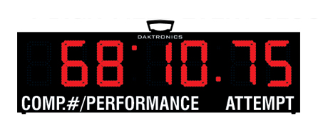 Daktronics 7-Digit LED Display for Field Events
