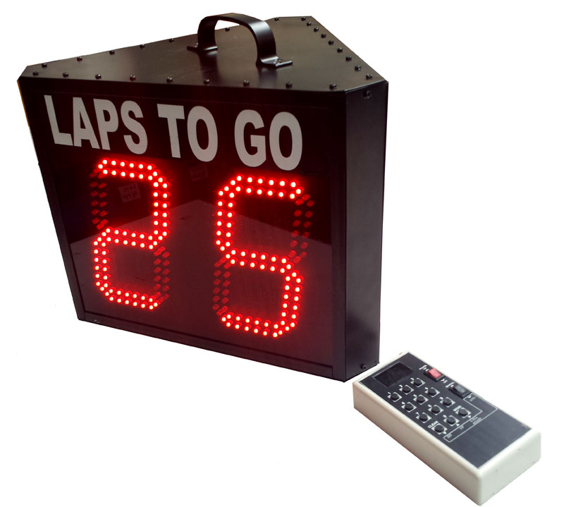 2 Digit 6 inch LED Lap Counters