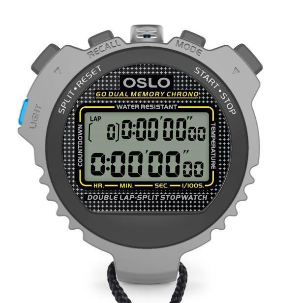 Robic Oslo Silver 60 Stopwatch