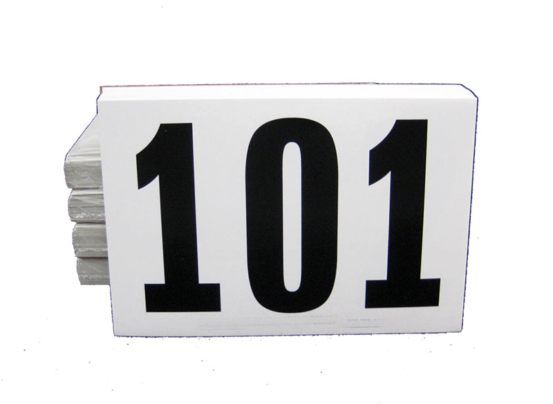 Adhesive Bib Numbers 6in x 4in