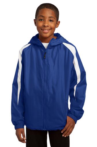Sport-Tek Youth Fleece Lined Colorblock Jacket
