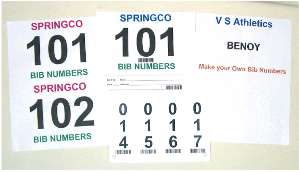 Make Your Own Bib Numbers - Digital