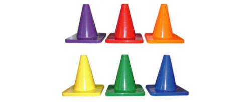 Colored 6in. Cones