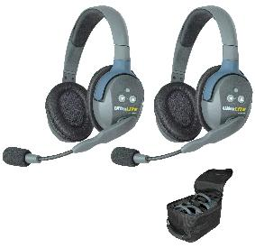 Eartec UltraLITE 2 person System Dual Ear Headsets