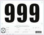 Stock Competitor Bib Numbers